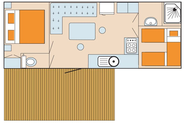 Mobilehome Excellent - plattegrond