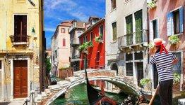 Italië, Adriatische kust - gondelier Venetie