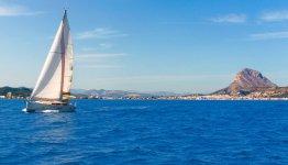Zeilen langs de Spaanse kust