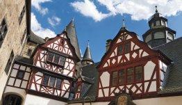 Vakwerkhuizen in Goslar in de Harz