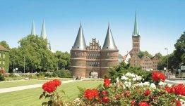 De Holstentor poort in Lübeck