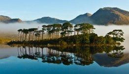 Connemara National Park. Het nationale park beslaat zo'n 2.957 hectare schilderachtige bergen, uitgestrekte moerassen, heidevelden, graslanden en bossen