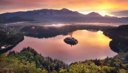 Noordwest Slovenië - Bled in de avond