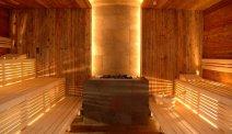 Genieten in de sauna in thermenhotel Bleibergerhof