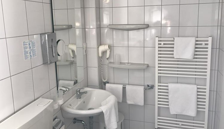 Hotel Rheinlust - 1-persoonskamer, badkamer
