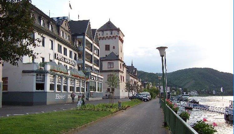 Direct aan de Rijn vindt u Hotel Rheinlust