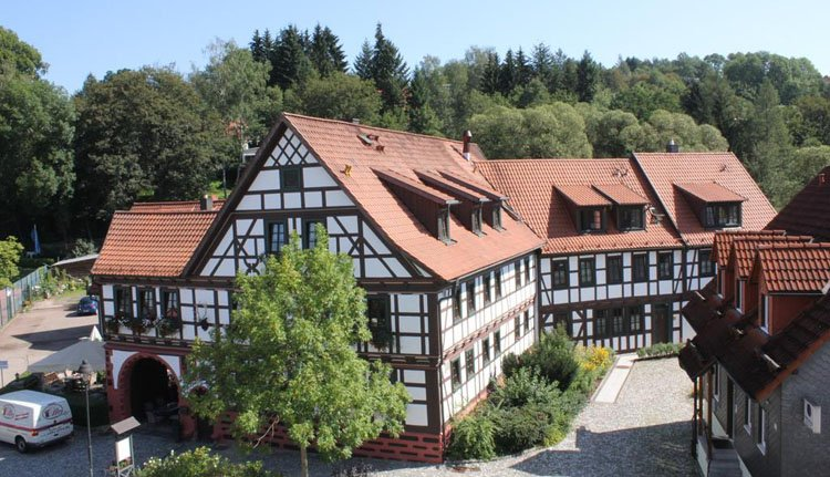 Hotel Goldener Hirsch is een prachtig vakwerkhotel