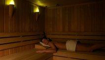 Aan het eind van de vakantiedag heerlijk ontspannen in de sauna van Hotel Lovec
