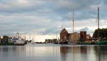 De haven van Wismar bij Hotel Alter Speicher