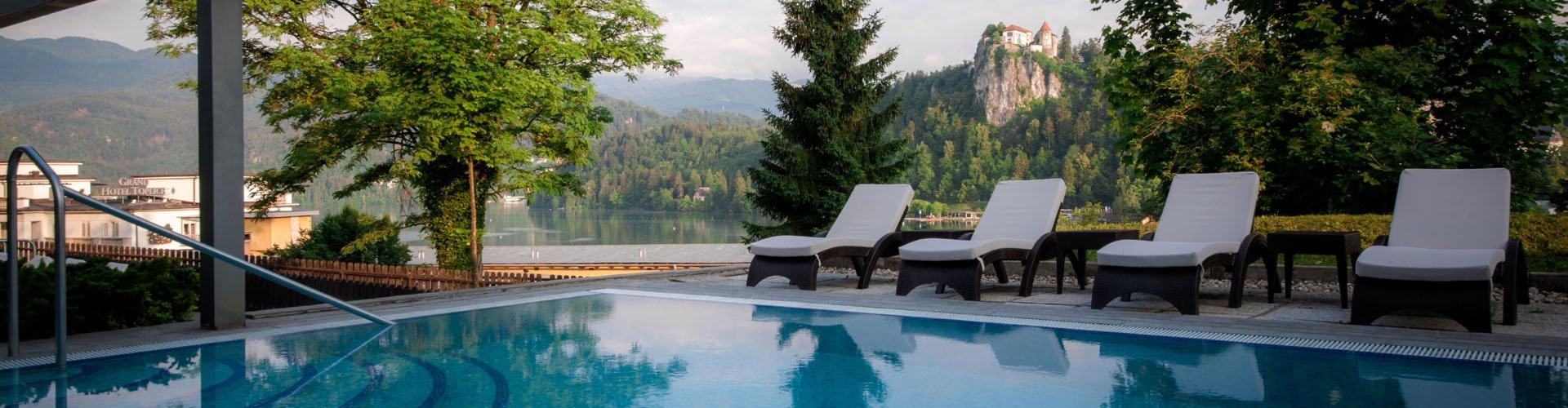Banner Hotel Golf aan het meer van Bled