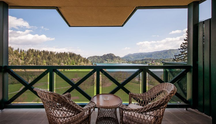 Hotel Triglav Bled, 2-persoonskamer meerzicht