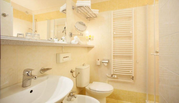 Hotel Park Bled - 2-persoonskamer parkzicht, badkamer
