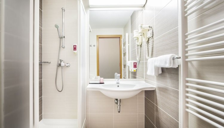 Hotel Lucija - 1-persoonskamer, badkamer