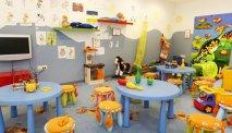 De kids vermaken zich in de kids speel- en spelletjesruimte Luculand in Hotel Lucija