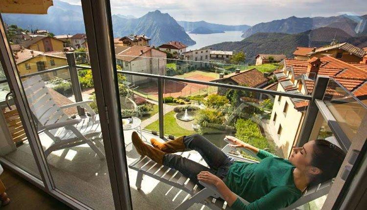 Hotel Miralago - 2-persoonskamer balkon meerzicht