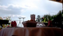 Hotel Al MIlano - restaurant met fantastisch uitzicht