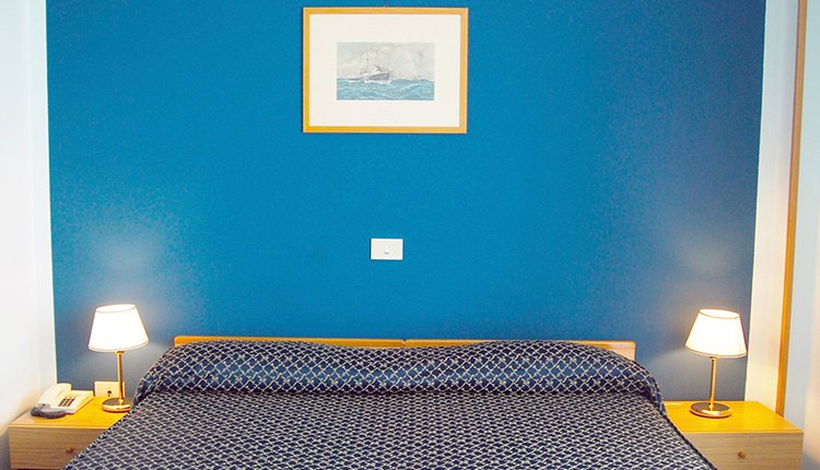 Hotel La Vela biedt comfortabele tweepersoonskamers