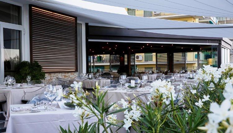 Het terras van Hotel delle Nazioni