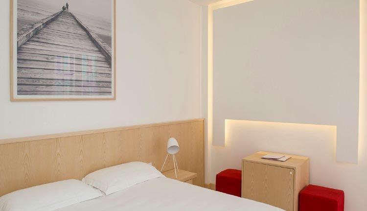 Hotel delle Nazioni heeft comfortabele tweepersoonskamers