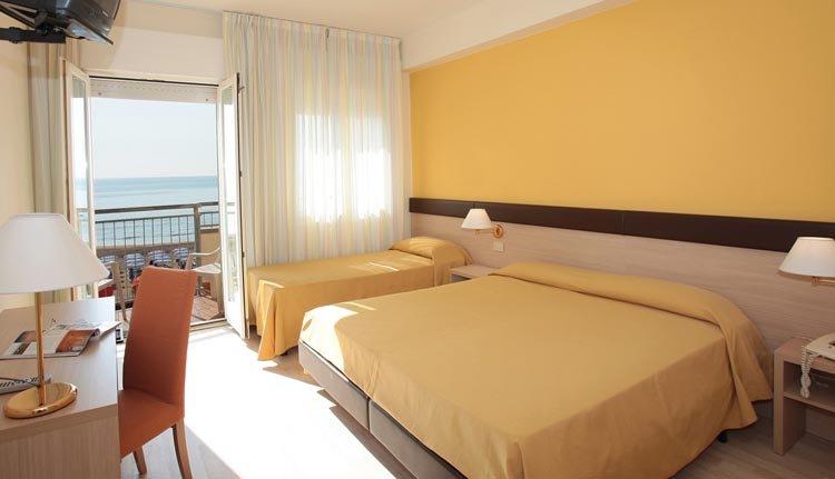 De kamers in Hotel Astor Lido zijn comfortabel