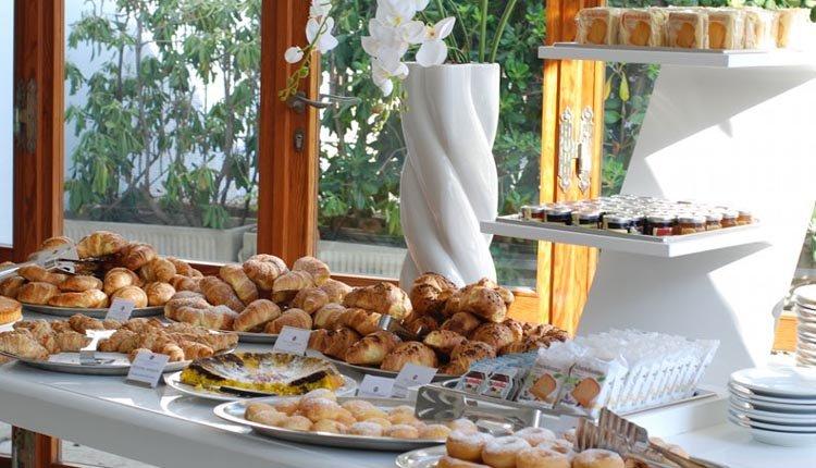 Hotel Il Continental verzorgt elke morgen een uitgebreid ontbijtbuffet
