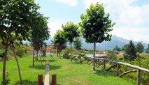 De tuin van Hotel Belvedere