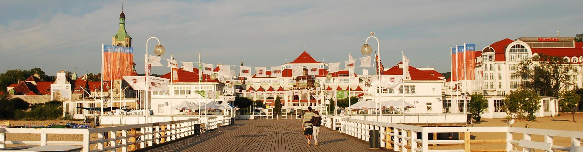 Polen, Pommeren - wandelen over de pier in Sopot
