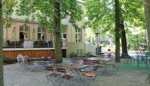 De tuin van Hotel Kronprinz in Berlijn
