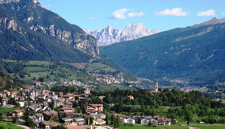 Hotel Lagorai ligt in een geweldige vallei