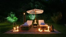 Een ontspannen avond in de tuin van Wellness Hotel Waldecker Hof