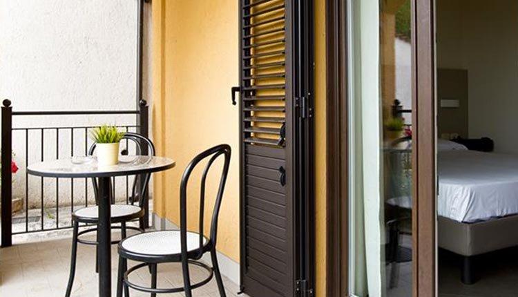 De comfortabele kamers van Hotel Belvedere met balkon