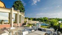 De prachtige tuin van Hotel Belvedere