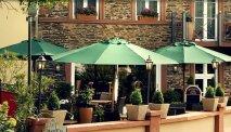 Hotel Moseltor - terras aan de Moezel