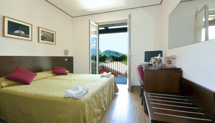 De tweepersoonskamers in Hotel Cortese bieden veel comfort