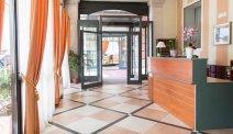 De receptie van Hotel San Gottardo