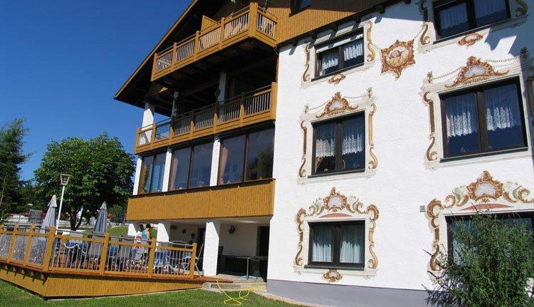 Hotel Riesberghof met de herkenbare traditionele gevel