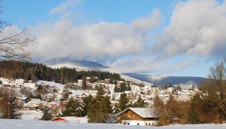 Hotel Riesberghof in de sneeuw