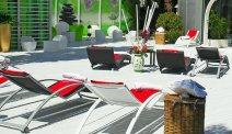 Het terras van Hotel Primavera