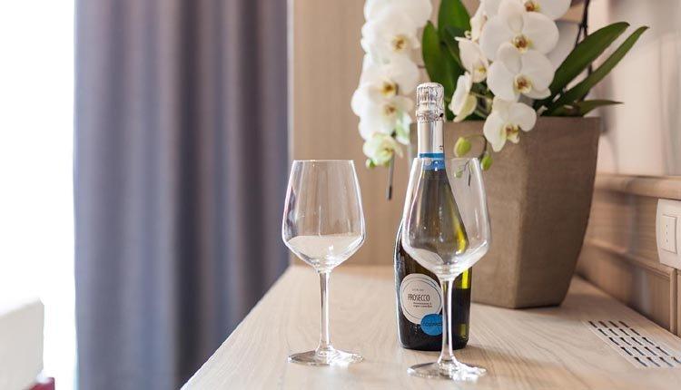 Begin uw verblijf bij Hotel Bellariva met een licht bruisend bubbeltje