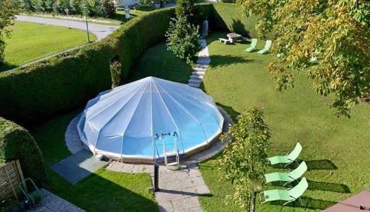 De heerlijke tuin van Gasthof Baumgarten