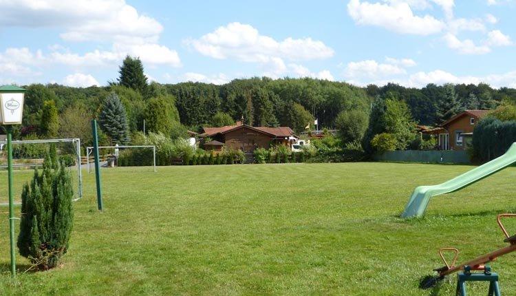 De tuin van Hotel Alte Viehweide