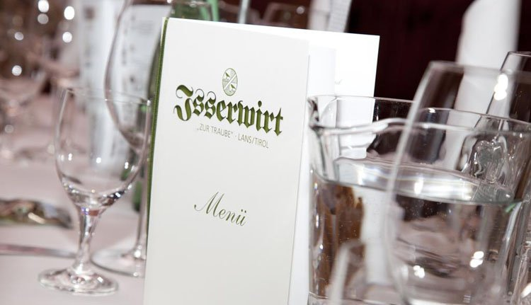 Gasthof Isserwirt - menu