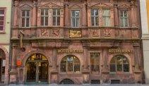 De stijlvolle entree van Hotel zum Ritter St. Georg