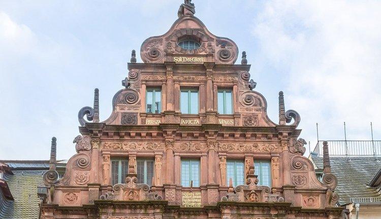 Hotel zum Ritter St. Georg in Heidelberg ligt centraal tov vele bezienswaardigheden