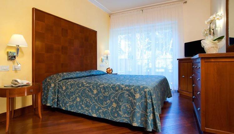 De kamers in Hotel Versilia Palace zijn sfeervol ingericht