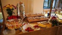 Elke morgen staat er een uitgebreid ontbijtbuffet klaar in Hotel Villa Moritz