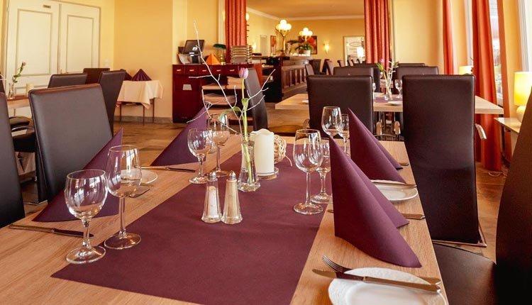 Het gezellige restaurant van Park-hotel Traben-Trarbach