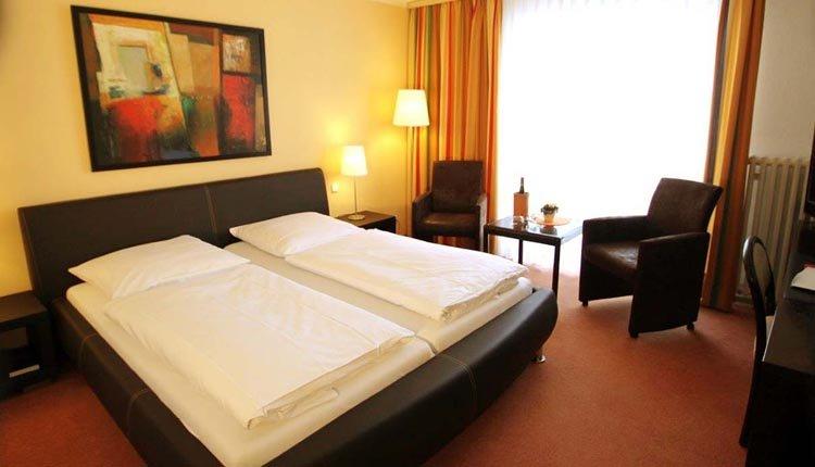 De kamers van Park-hotel Traben-Trarbach zijn comfortabel
