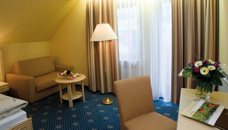 De kamers in Hotel Friederike zijn comfortabel