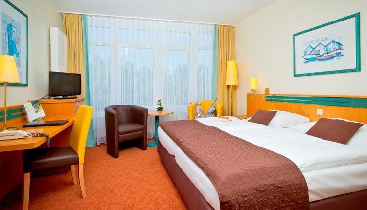 De kamers in Hotel Rugen zijn comfortabel